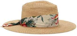 Vince Camuto Scarf-band Straw Hat