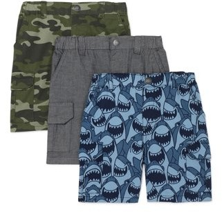 Garanimals Toddler Boy Canvas Cargo Shorts, 3pk