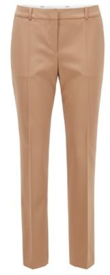 HUGO BOSS Relaxed-fit cropped trousers in stretch-wool gabardine