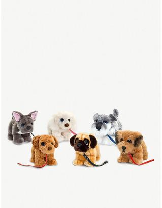 Selfridges Puppy on a lead assorted plush toy 33cm