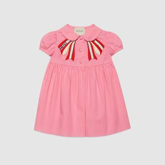Gucci Baby poplin dress with bow