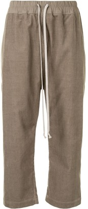 Rick Owens Drop-Crotch Drawstring Trousers