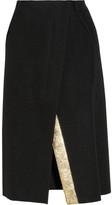 Jil Sander Paprika metallic-detailed wool skirt