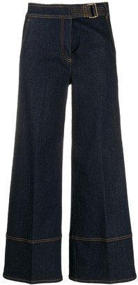 Tory Burch Wide Leg Jeans