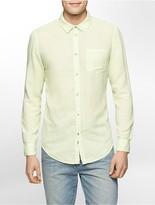 Calvin Klein Slim Fit Linen Blend Shirt
