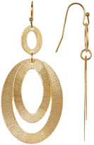 Rivka Friedman 18K Gold Clad Layered Textured Oval Link Earrings
