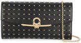 Salvatore Ferragamo studded Gancio clasp clutch - women - Calf Leather/metal - One Size
