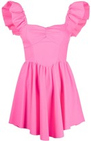 Amen ruffle trim mini dress