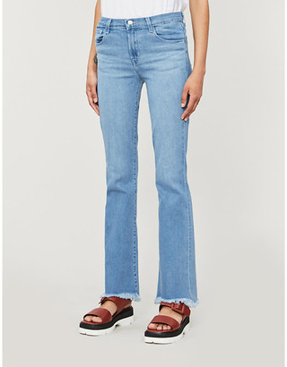 J Brand Saille mid-rise regular-fit cotton-blend jeans