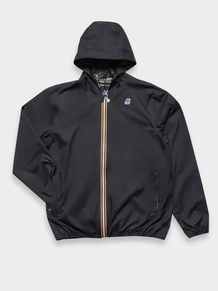 K-Way Jack Plus Dot Packable Waterproof Rain Jacket in Navy
