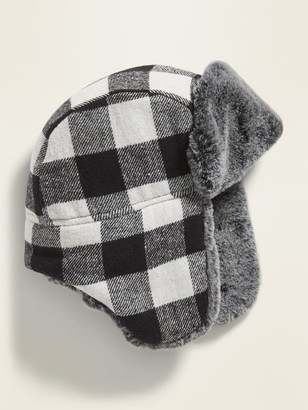 Old Navy Flannel Faux-Fur Lined Trapper Hat for Boys