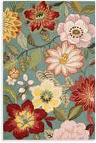 Nourison Fantasy Wild Flower Area Rugs in Aqua