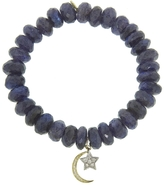 Sydney Evan Moon And Star On Spectralite Beaded Bracelet