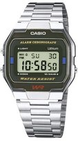Casio Unisex Collection Digital Watch with Stainless Steel Bracelet A163WA-1QES