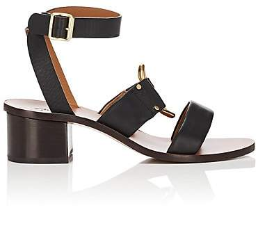 Chloé Women's Rony Leather Ankle-Strap Sandals - Black