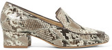 Alexandre Birman Python Loafers - Gray