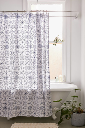 Urban Outfitters Cora Embroidered Shower Curtain