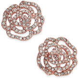 Kate Spade Rose Gold-Tone Pavé Rose Stud Earrings