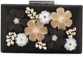 Neiman Marcus 3-D Floral Evening Box Clutch Bag