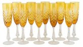 Faberge 10-Piece Odessa Champagne Flutes