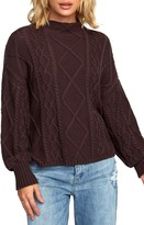 RVCA Attraction Funnel Neck Cable Sweater