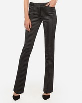 Express Mid Rise Stripe Barely Boot Columnist Dress Pant