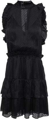 IRO Tiered Ruffled Fil Coupe Chiffon Mini Dress