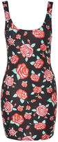Jaded London **Rose Print Bodycon Mini Dress