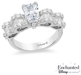 Zales Enchanted Disney Snow White 1-3/4 CT. T.W. Emerald-Cut Diamond Bow Engagement Ring in 14K White Gold
