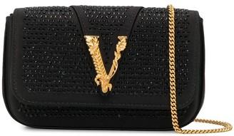 Versace Virtus embellished evening bag