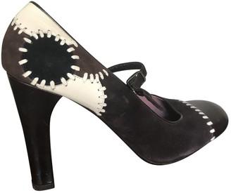 Marni Brown Velvet Heels