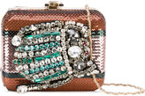 Rochas embellished clutch - women - Polyester/metal/glass - One Size