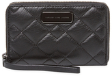 Marc by Marc Jacobs Crosby Wingman Quilted Leather Wristlet