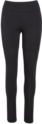 Black White Beige Leggings 001 - Black