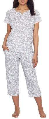 Karen Neuburger Ditsy Knit Cropped Pajama Set