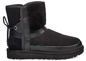 UGG Women's Classic Leopard Sheepskin-Lined Leather Ankle Boots