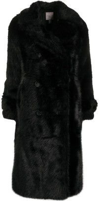 Urban Code Fur Double-Breasted Coat