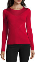 WORTHINGTON Worthington Long Sleeve Crew Neck Pullover Sweater-Talls