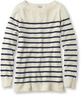 L.L. Bean Classic Cashmere Sweater, Boatneck Stripe
