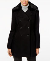 INC International Concepts Faux-Fur-Collar Peacoat, Only at Macy's