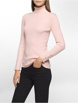 Calvin Klein Ribbed Knit Turtleneck Sweater