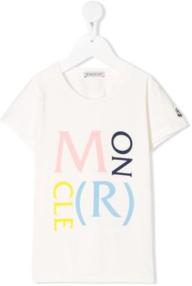 Moncler Enfant crew neck logo printed T-shirt