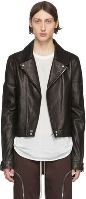 Rick Owens Black Leather Dracubiker Jacket