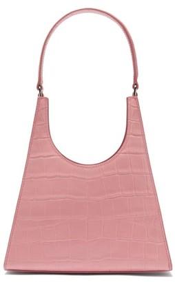 STAUD Rey Crocodile-effect Leather Handbag - Pink