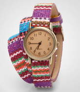 Fred Flare Stitch Wrapped Chichi Watch