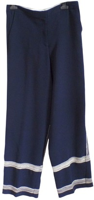 By Malene Birger Blue Synthetic Trousers