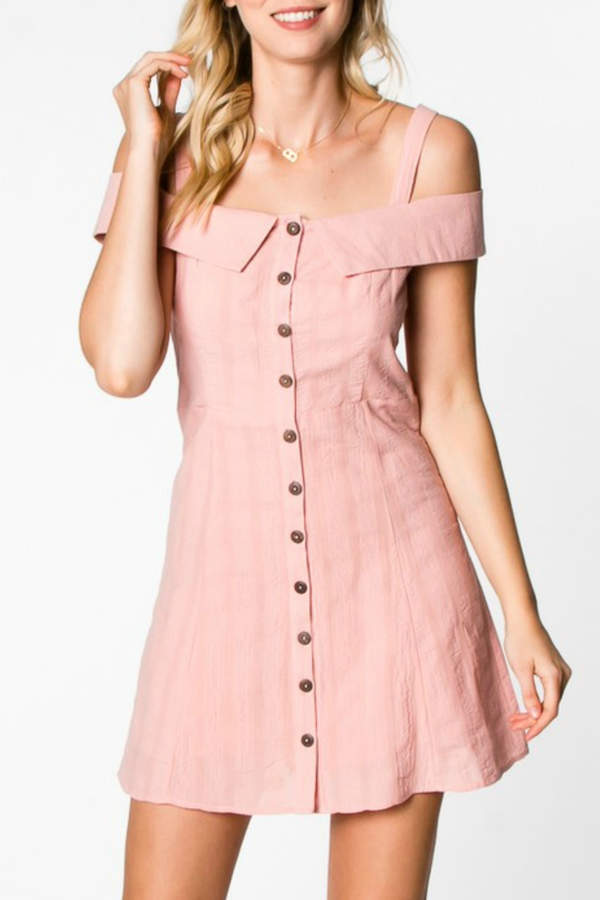 Everly Button Down Dress
