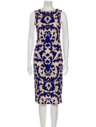 Alice + Olivia Floral Print Midi Length Dress