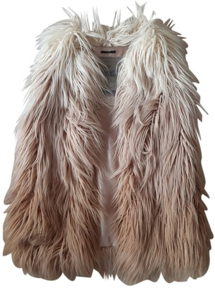 Ikks Beige Faux fur Jacket for Women