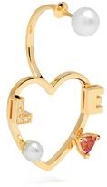 Delfina Delettrez Diamond, rhodolite, pearl & pink-gold earring